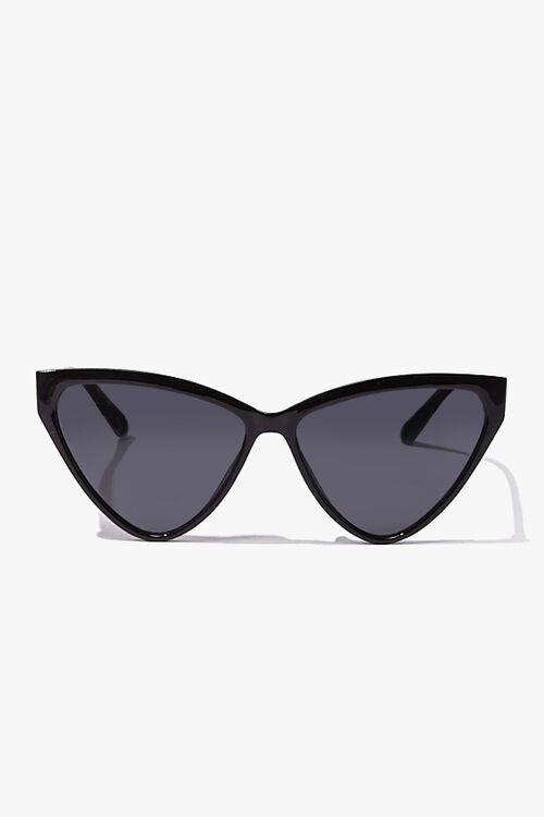 BLACK/BLACK Cat-Eye Tinted Sunglasses, image 1
