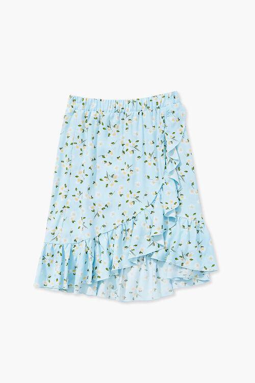 Girls Floral Print Tulip Skirt (Kids), image 1