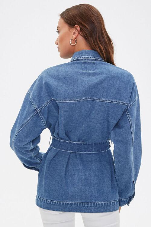 Longline Belted Denim Jacket, image 3