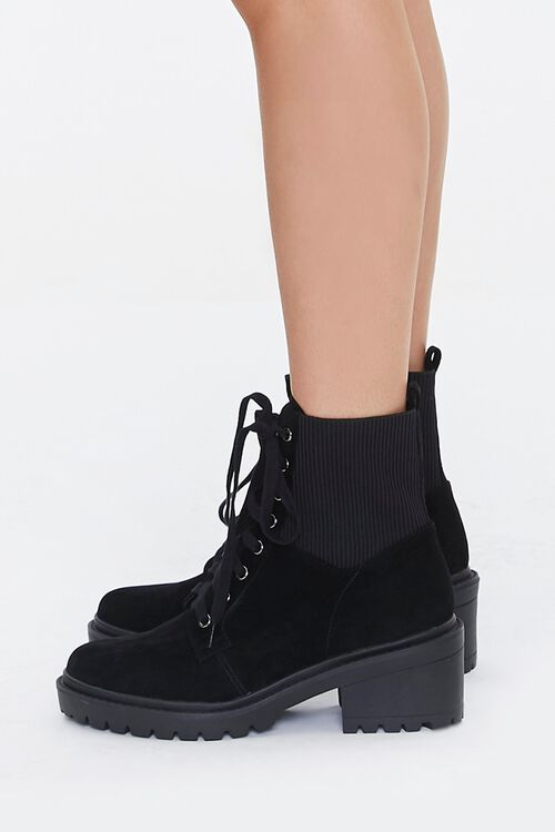 Lace-Up Sock Ankle Boots, image 2