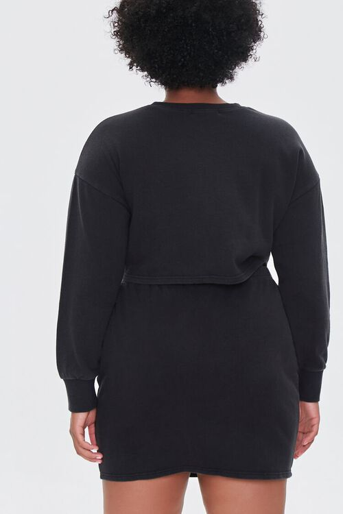 Plus Size Crop Top & Skirt Set, image 3