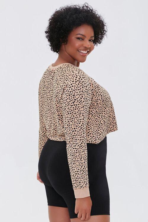 Plus Size Active Cheetah Print Top, image 2
