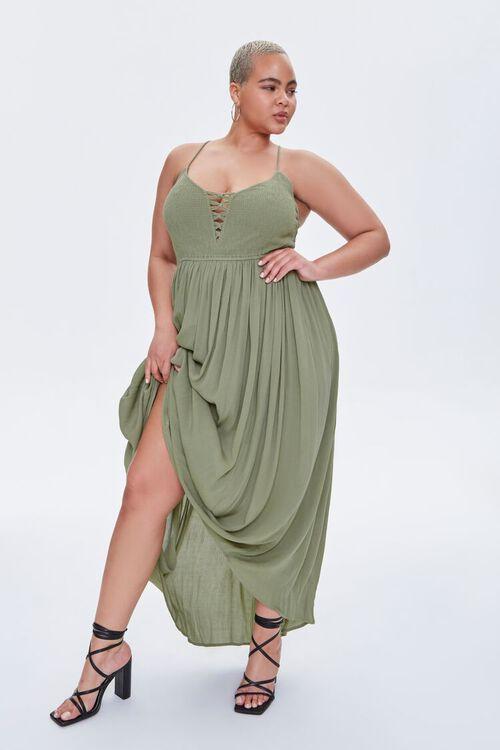 Plus Size Crisscross Maxi Dress, image 1