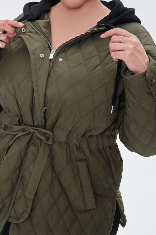 Plus Size Hooded Quilted Jacket, image 5
