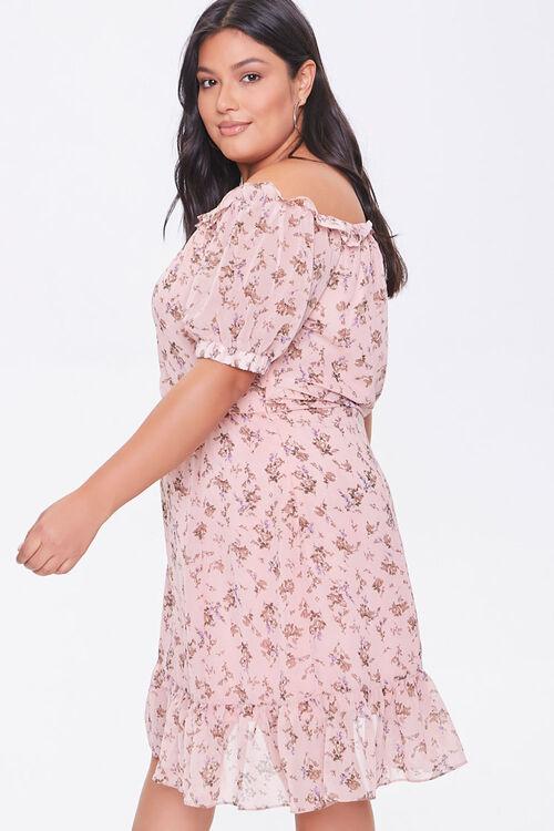 Plus Size Off-the-Shoulder Floral Print Dress, image 2