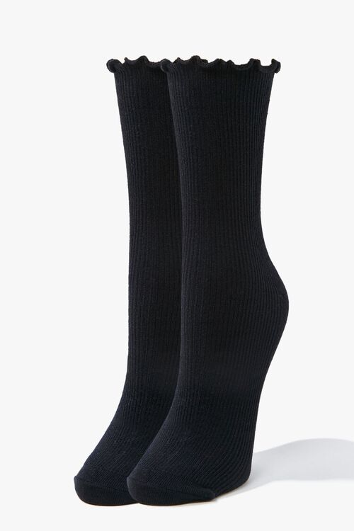 Lettuce-Edge Crew Socks, image 1