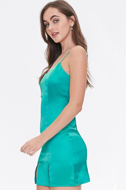 Satin M-Slit Mini Dress, image 2