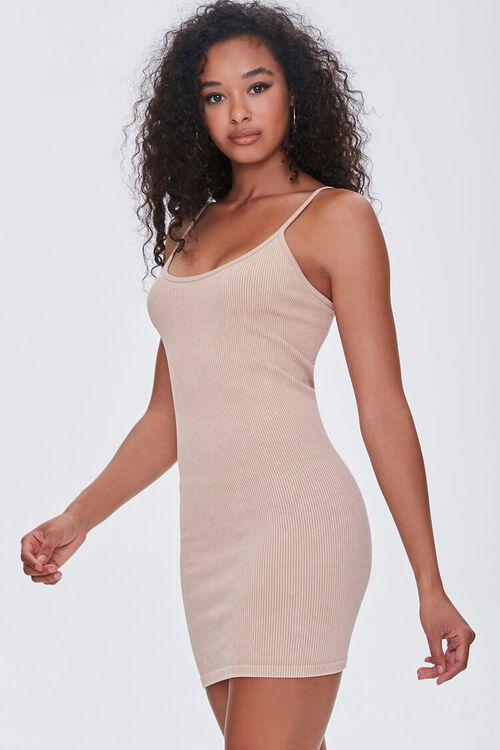 TAUPE Seamless Ribbed Cami Mini Dress, image 1
