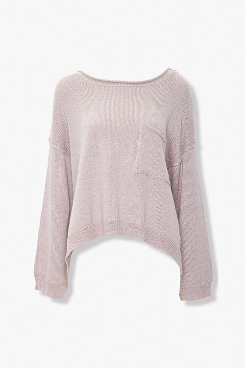 Slub Knit Pocket Sweater, image 1