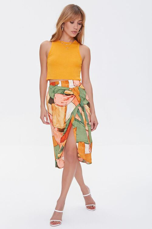 Abstract Geometric Print Skirt, image 5