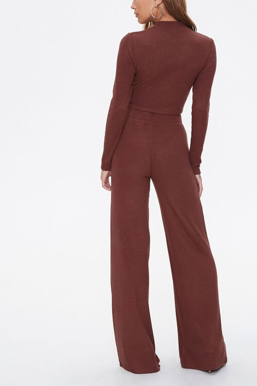 Crop Top & Flare Pants Set, image 3
