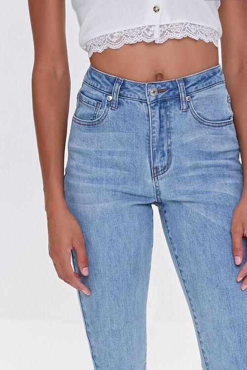 LIGHT DENIM Essential High-Rise Raw-Cut Jeans, image 2