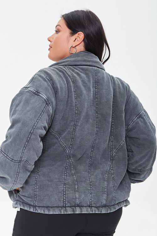 BLACK Plus Size Mineral Wash Jacket, image 3