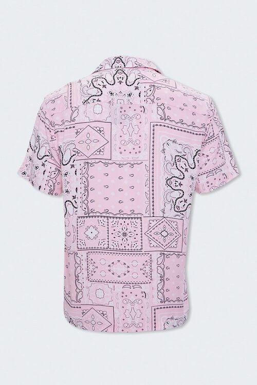 PINK/MULTI Paisley Print Cuban Collar Shirt, image 2