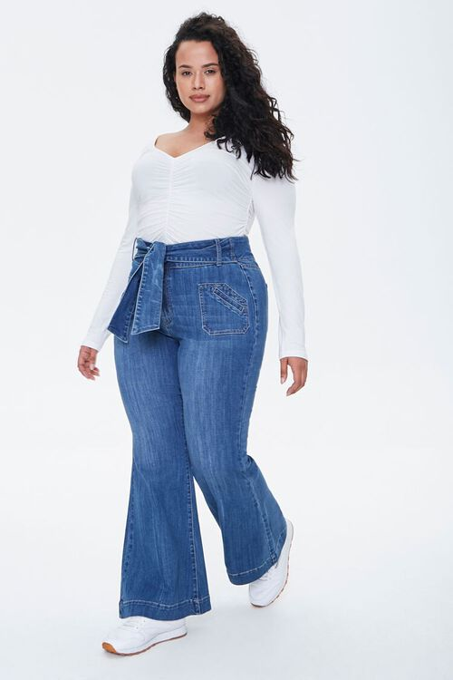 Plus Size High-Rise Flare Jeans, image 1