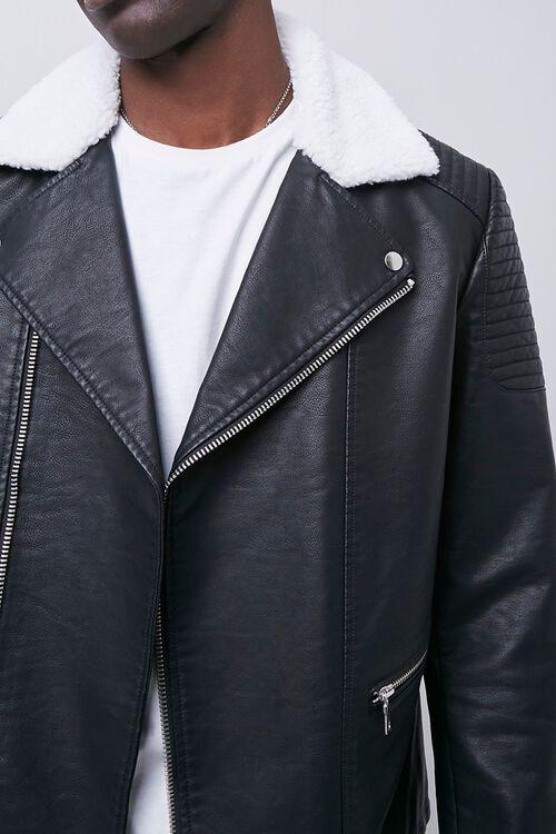 Faux Leather Moto Jacket, image 5