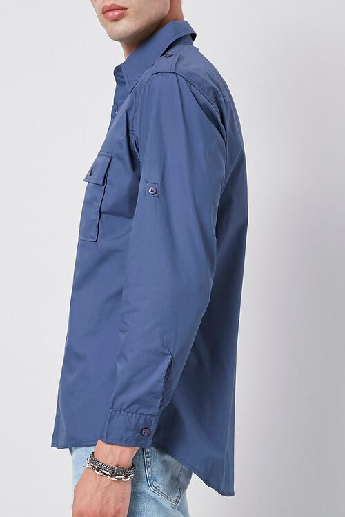 Epaulet Flap Pocket Shirt, image 2