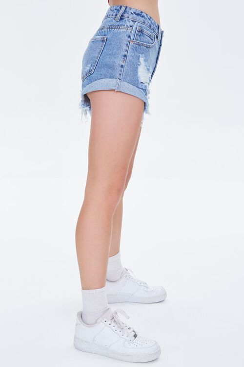 Frayed Denim Shorts, image 3