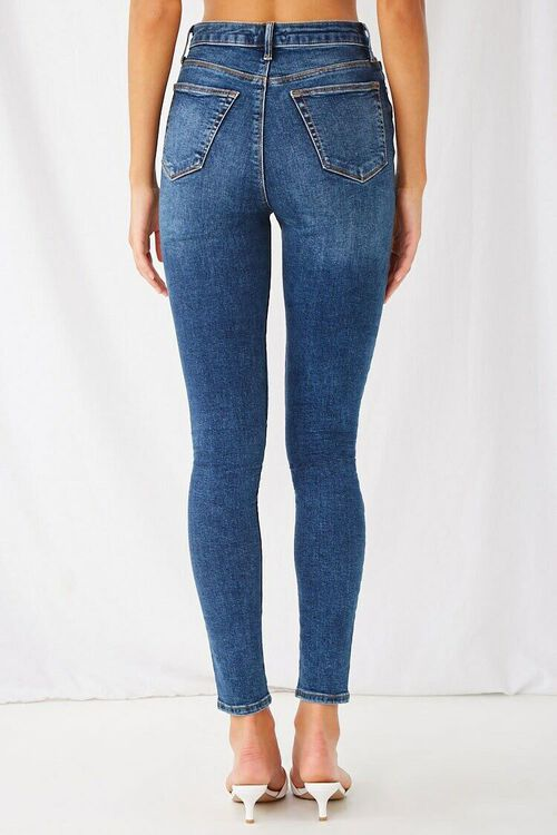 DARK DENIM The Fairfax Super Skinny High-Rise Jeans, image 4