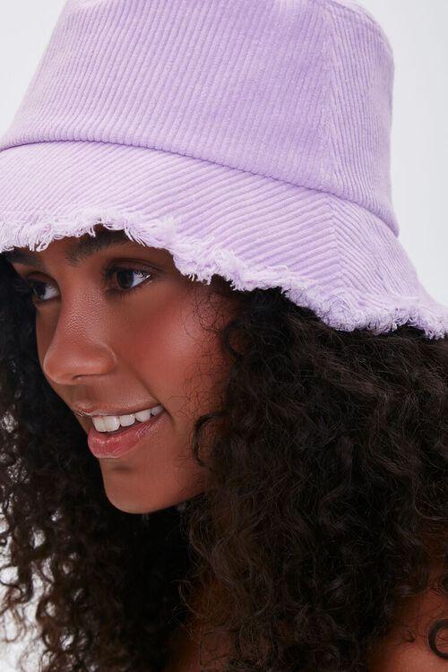 VIOLET Frayed Corduroy Bucket Hat, image 2