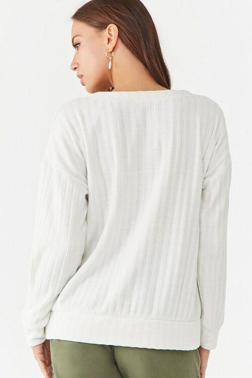 Ribbed V-Neck Sweater, image 3
