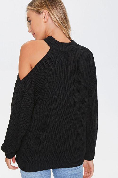 Open-Shoulder Knit Sweater, image 3