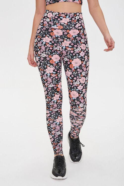 Active Floral Print Leggings, image 2