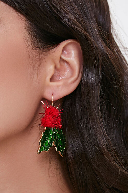 Mistletoe Drop Earrings, image 1