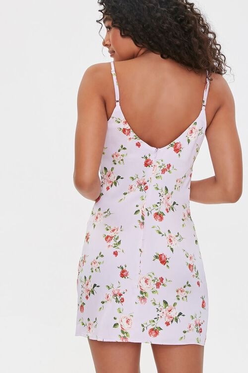 LAVENDER/MULTI Floral Print Cami Mini Dress, image 3