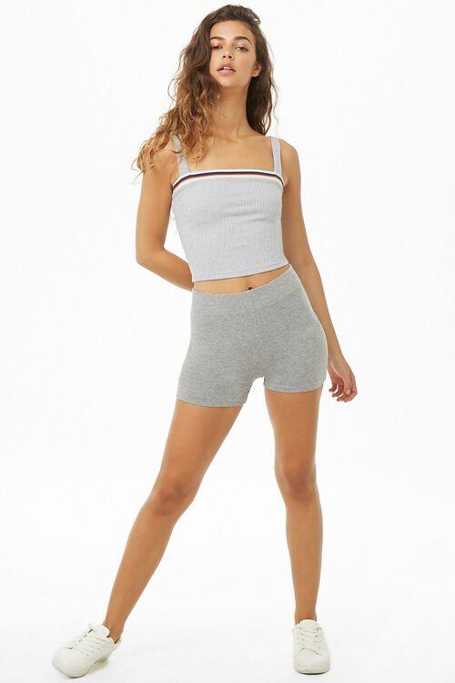 Basic Cotton-Blend Bike Shorts, image 5