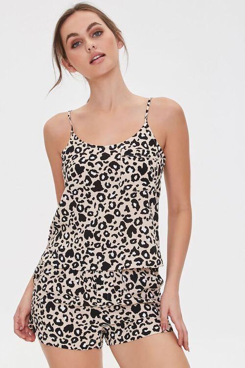 Leopard Cami & Shorts Lounge Set, image 1