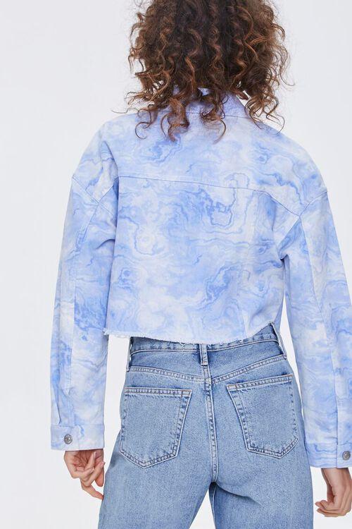 Oil Slick Frayed Denim Jacket, image 4