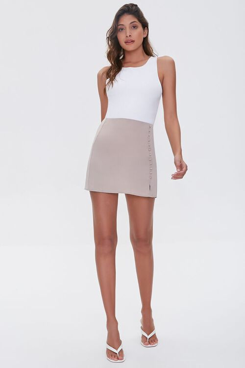 Button-Front Mini Skirt, image 5