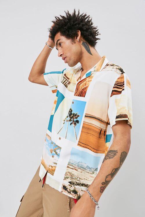 Classic Fit Beach Graphic Shirt, image 1