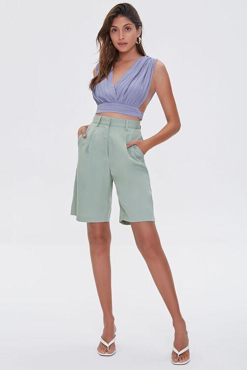 High-Rise Straight-Leg Shorts, image 5