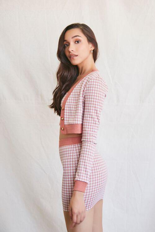RUST/MULTI Houndstooth Cami Cardigan & Skirt Set, image 2