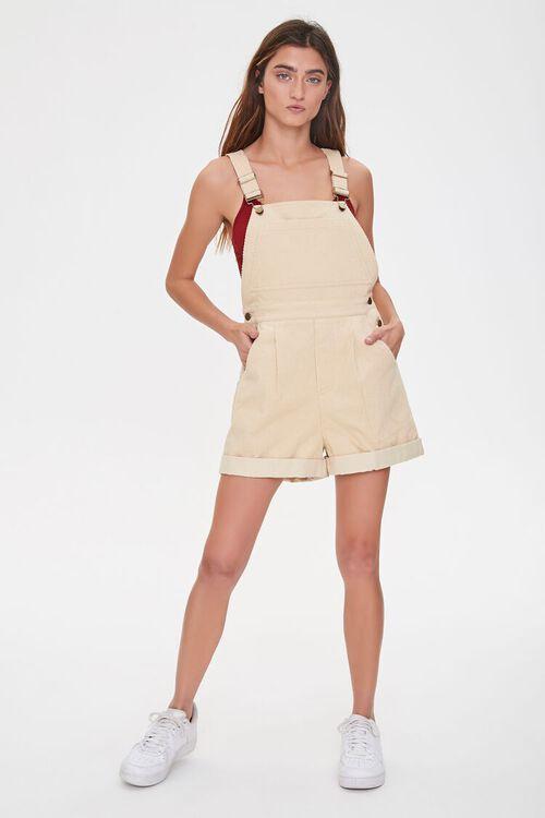 Corduroy Overall Shorts, image 4