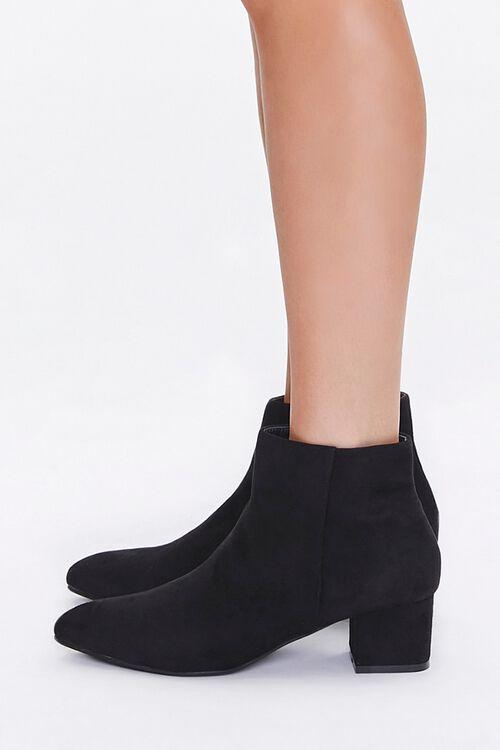 Faux Suede Block Heel Booties, image 2