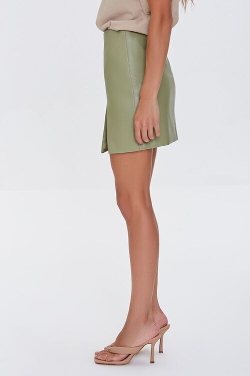 Faux Leather Mini Skirt, image 3