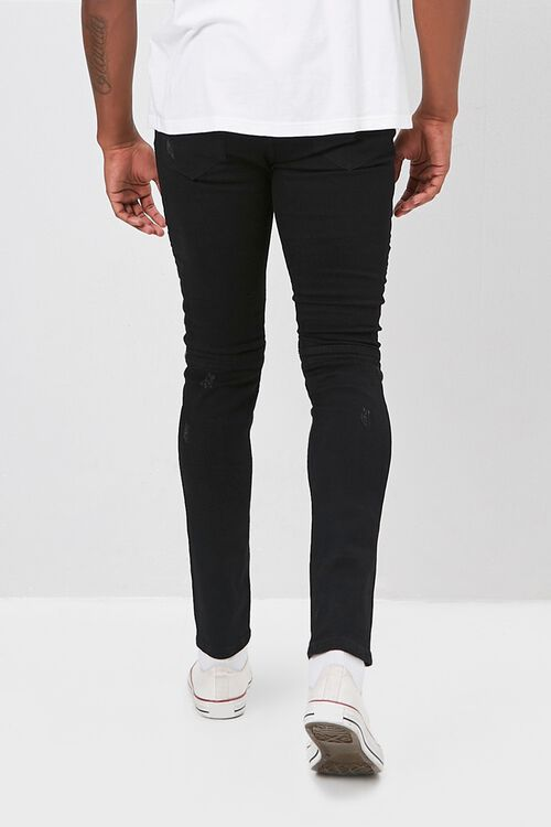 Zippered Moto Skinny Jeans, image 3