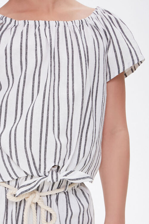Girls Striped Self-Tie Top (Kids), image 4