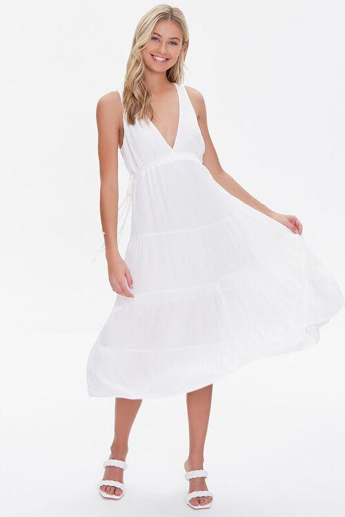 Plunging Midi Dress, image 1