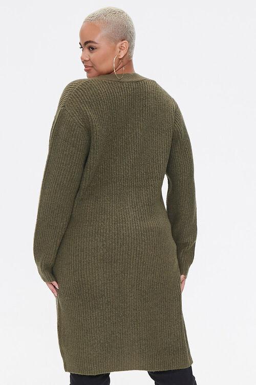 Plus Size Longline Cardigan Sweater, image 3