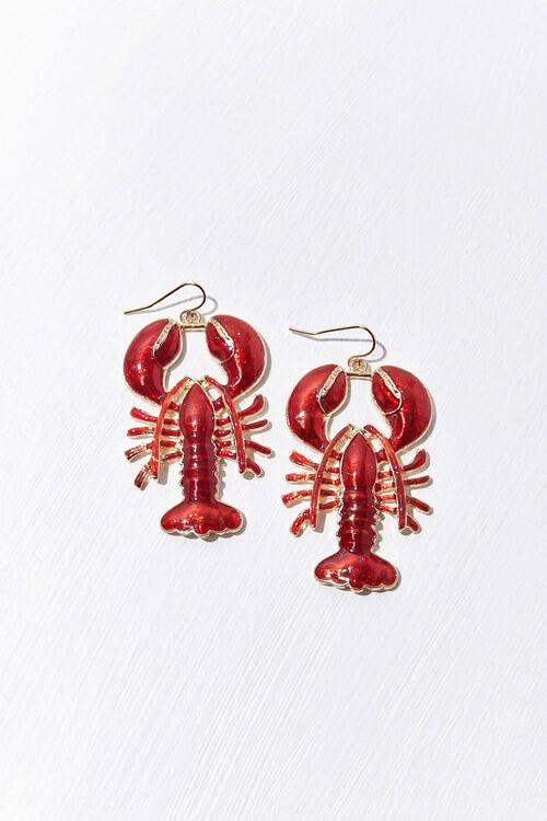 Resin Lobster Drop Earrings, image 2