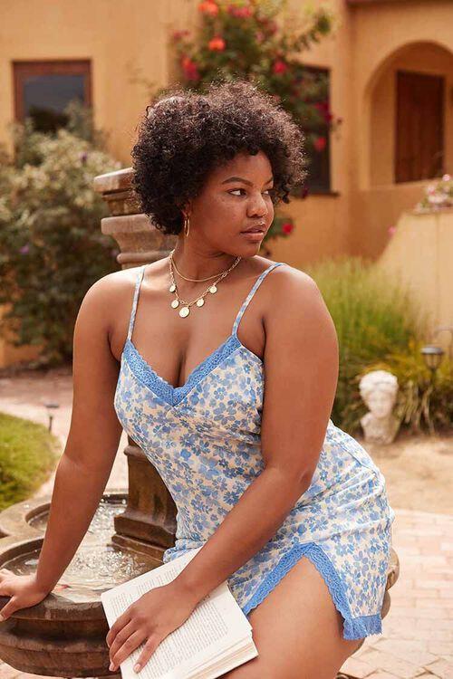 Plus Size Floral Mini Cami Dress, image 1