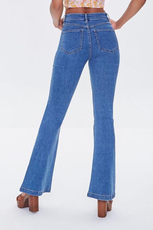 MEDIUM DENIM Clean Wash Flare Jeans, image 4