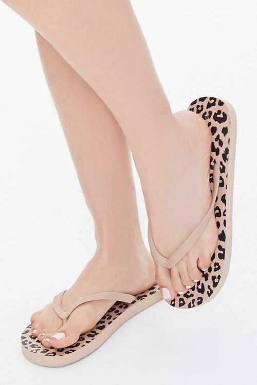 Leopard Print Flip-Flops, image 1