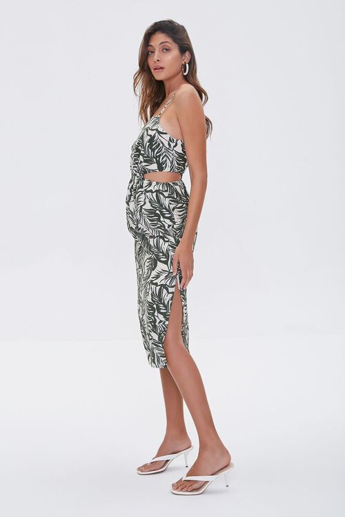 Tropical Print Cutout Dress, image 2