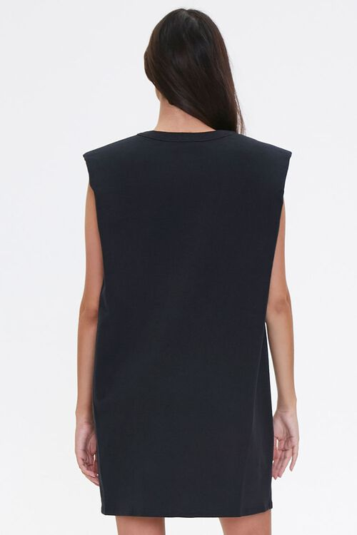 T-Shirt Shoulder Pad Dress, image 3