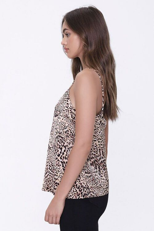 BROWN/BLACK Satin Cheetah Print Cami, image 2